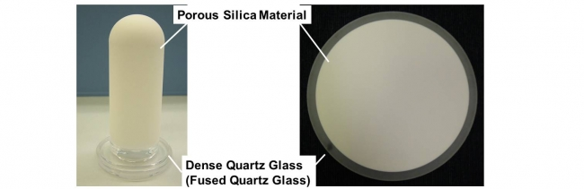 Our Porous Silica Material Can Be Fused With Quartz Gl Making It Possible To Manufacture Composite Pieces That Consist Of Dense And Parts